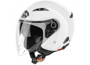 Helmet Jet Airoh City One Color White Gloss