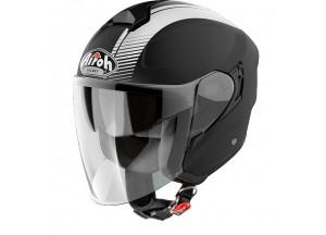 Helmet Jet Airoh Hunter Simple Black Matt