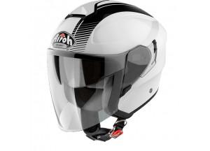 Helmet Jet Airoh Hunter Simple White Gloss