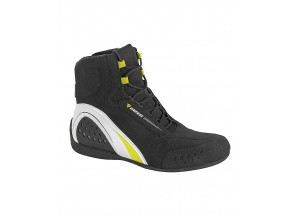 Boots Dainese Motorshoe D-Wp Waterproof Black/White/Fluo-Yellow