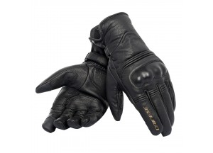 Motorcycle Gloves Dainese Corbin Unisex D-dry Leather Black/Black/Black