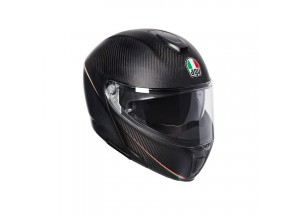 Helmet Flip-Up Full-Face Agv Sportmodular Tricolore Matt Carbon