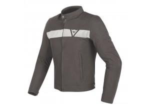 Jacket Dainese Stripes Tex Dark-Brown/White