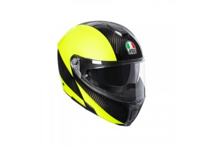Helmet Flip-Up Full-Face Agv Sportmodular Hi Vis Carbon Yellow Fluo