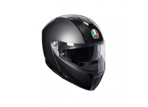 Helmet Flip-Up Full-Face Agv Sportmodular Carbon Dark Grey
