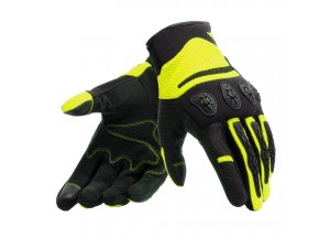 Motorcycle Gloves Dainese Aerox Unisex Black Fluo-Yellow