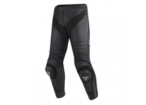 Perforated Leather Pants Dainese Racing Misano Black Black Anthracite
