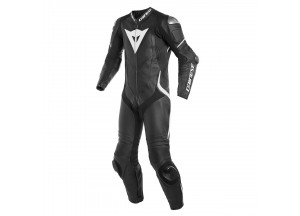 Leather Suit Dainese Laguna Seca 4 1PC Summer Black/Black/Fluo-Red