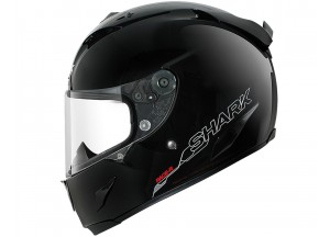 Full-Face Helmet Shark RACE-R PRO BLANK Glossy Black