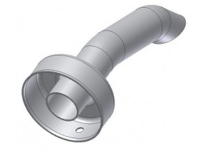 50.DK.010.0 - Mivv dB-killer d25 - d50 - L.140 mm X-CONE - OVAL