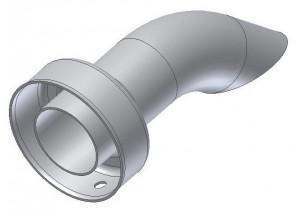 50.DK.020.0 - Mivv db killer d35 - d61 - L.140 mm (Gp - Oval - X-Cone LC3 )