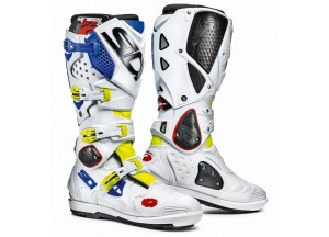 Boots Moto Off-Road Crossfire 2 SRS Yellow Fluo White Blue