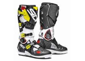 Boots Moto Off-Road Crossfire 2 SRS Black White Yellow Fluo