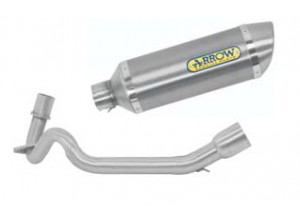 Kit Exhaust Arrow Muffler A + Manifolds Aprilia SR 125 Motard '12>