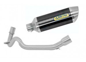 Kit Exhaust Arrow Muffler A Dark + Manifolds Aprilia SR 125 Motard '12>