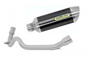 Kit Exhaust Arrow Muffler A Dark + Manifolds Aprilia SR 125 Motard '12>