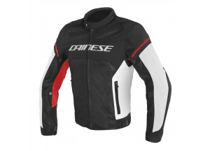 Jacket Dainese Air Frame D1 Tex Summer Perforated Black/White/Red