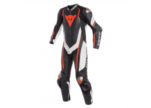 Leather Suit Dainese Kyalami 1PC Professional Estiva Black/White/Fluo-Red