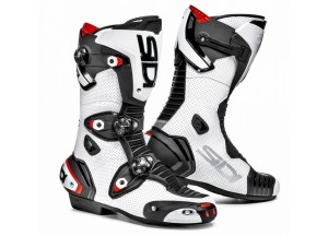 Perforated Boots Moto Racing Sidi Mag-1 Air White Black