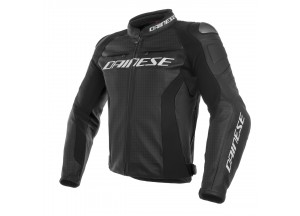 Leather Jacket Dainese Racing 3 Perforated Black / Black / Black