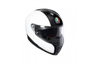 Helmet Flip-Up Full-Face Agv Sportmodular Carbon White