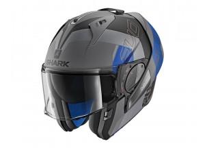 Modular Helmet Openable Discovery Shark EVO-ONE 2 SLASHER MAT Black Blue
