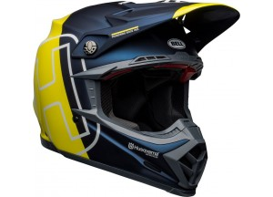 Helmet Bell Off-road Motocross Moto-9 Carbon Flex Husqvarna Gotland Blue Yellow