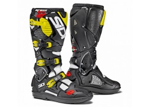 Boots Moto Off-Road Crossfire 3 SRS White Black Yellow Fluo