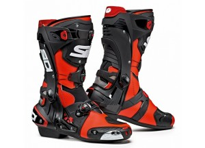 Boots Moto Racing Sidi Rex Red Fluo Black