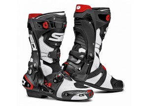 Perforated Boots Moto Racing Sidi Rex Air Black White