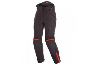 Waterproof Motorbike Pants Dainese Tempest 2 D-Dry Lady Black Red