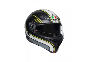 Helmet Flip-Up Full-Face Agv Compact St Boston Matt Black Grey Yellow