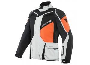 Motorcycle Jacket Man Dainese Gore-Tex D-Explorer 2 Black Gray Orange