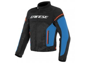 Perforated Jacket Dainese Air Frame D1 Tex Black Light-Blue Fluo Red