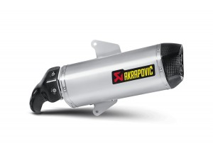 S-A8SO2-HWSS - Silencer Akrapovic Bolt-on stainless steel carbon Aprilia SRV 850