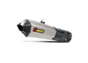 S-D12SO7-HHX2T - Muffler Akrapovic Approved Titanium Ducati Multistrada 1200