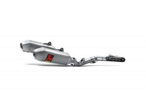 S-H4MET14-QTA - Exhaust Akrapovic Evolution Line Inox/Titanio Honda CRF450R
