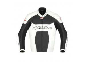 Leather Jacket Alpinestars GP Plus Black/White