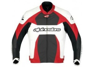 Leather Jacket Alpinestars GP Plus White/Red/Black