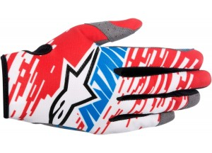 Gloves Alpinestars RACER BRAAP Red/White