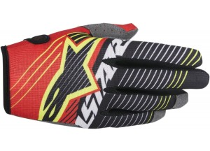 Gloves Alpinestars RADAR TRACKER Red/White/Black