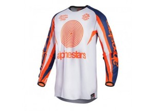 Jersey Alpinestars RACER 7 JERSEY White/Orange
