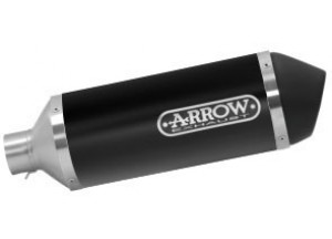 53520ANN - Muffler Arrow Urban Aluminum Dark Vespa Primavera 125 i-get 3V