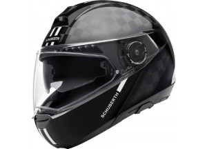 Helmet Full-face Flip-Up Schuberth C4 Pro Carbon Fusion White Glossy