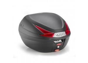 B330N - Givi BLACK MONOLOCK® TOP-CASE 33 LTR WITH RED REFLECTORS