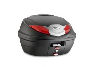 B360N - Top Case Givi Monolock B360 Black Red universal fitting kit 36lt