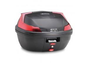 B37N - Top Case Givi Monolock B37 Blade Black Red universal fitting kit 37lt