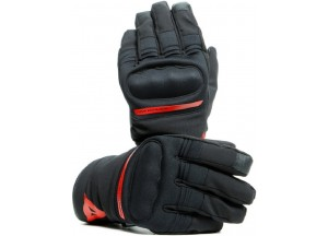 Motorcycle Gloves Dainese AVILA UNISEX D-Dry Black Red