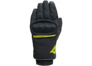 Motorcycle Gloves Dainese AVILA UNISEX D-Dry Black Fluo-Yellow