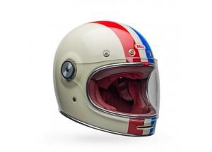 Helmet Full-Face Bell Bullitt DLX Command Vintage White Blue Red